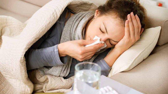 Ilustrasi terserang flu.