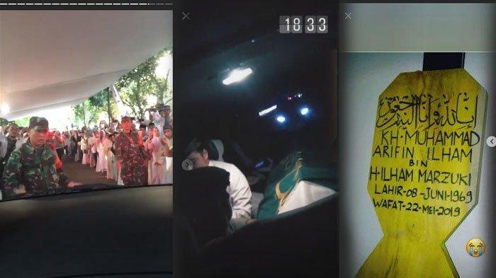 Foto-foto Suasana Jelang Pemakaman Ustaz Arifin Ilham, Disambut Isak Tangis Ratusan Jamaah