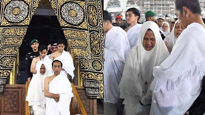 Foto Jokowi Umroh dari Masuk ke Dalam Kabah hingga Iriana Menangis Usai Cium Hajar Aswad