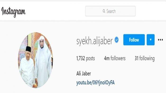 SIAPA Pria di Samping Syekh Ali Jaber yang Dijadikan Foto Profil di IG? Ternyata Bukan Orang Biasa