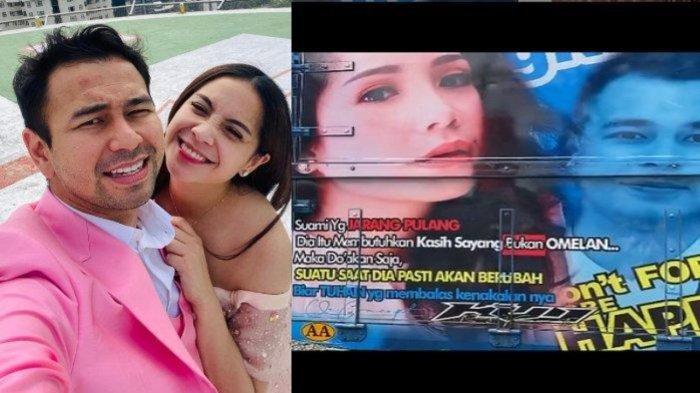 FOTO Terpampang di Bak Truk, Nagita Slavina Girang, Raffi Ahmad Malah Tersindir Baca Tulisan Menohok