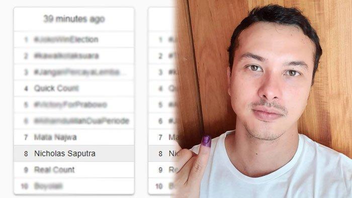 Nicholas Saputra Jadi Trending Saat Pemilu 2019, Berikut Cuitan Netter Tanggapi Foto Selfie-nya