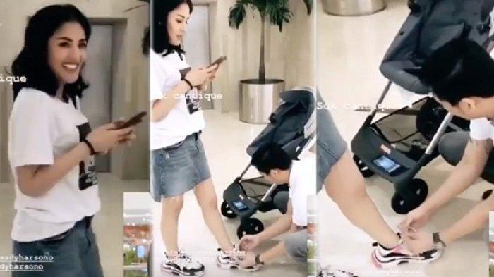 Foto viral Askara ikatkan tali sepatu Nindy pada 2018