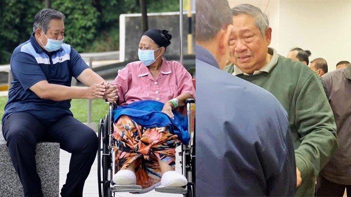SBY, AHY dan Ibas Angkat Peti Jenazah Ani Yudhoyono, Tiba di KBRI Singapura untuk Disemayamkan
