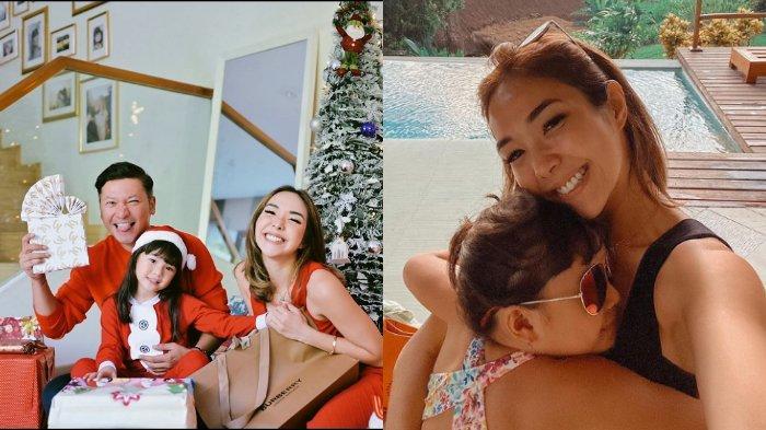 Gading Marten, Gisella Anastasia dan Gempita rayakan Natal bersama.