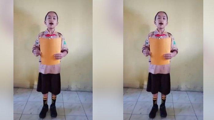 Video Gadis Cilik Baca Pusisi Mendadak Viral, Arti Sajaknya Bikin Merinding!