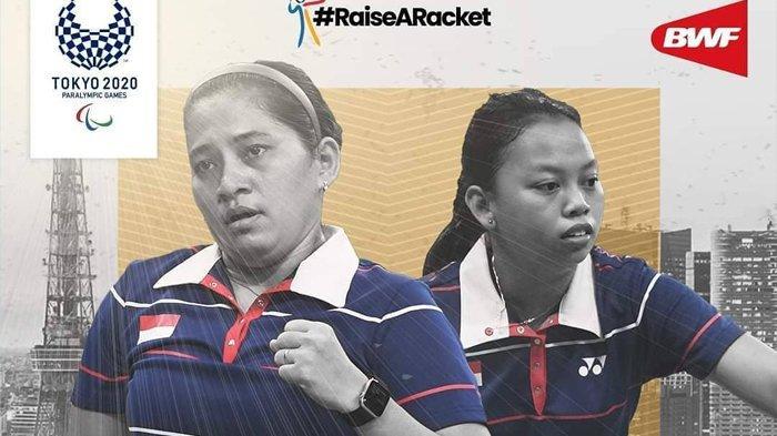 Ganda putri SL3-SU5, Leani Ratri dan Khalimatus Sadiyah raih emas di Paralimpiade Tokyo 2020.