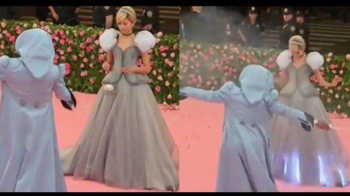 Daftar Lengkap Gaun Spektakuler Seleb Dunia di Met Gala 2019, Gaun Cinderella Zendaya Viral