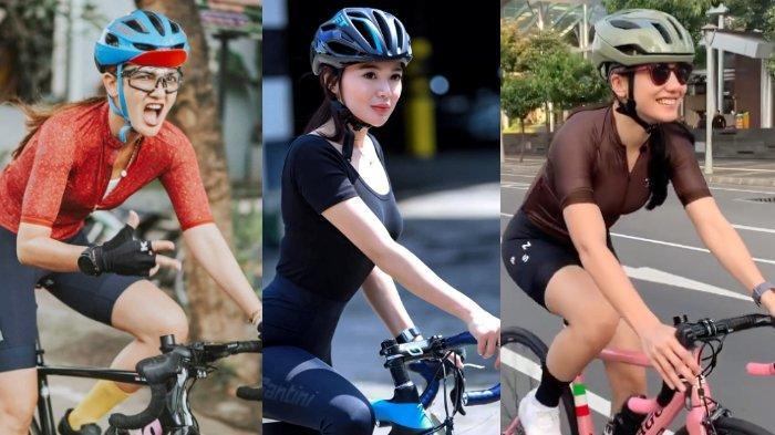Hobi Gowes, Intip 6 Gaya Artis Cantik saat Bersepeda: Luna Maya, Nirina Zubir, hingga Pevita Pearce