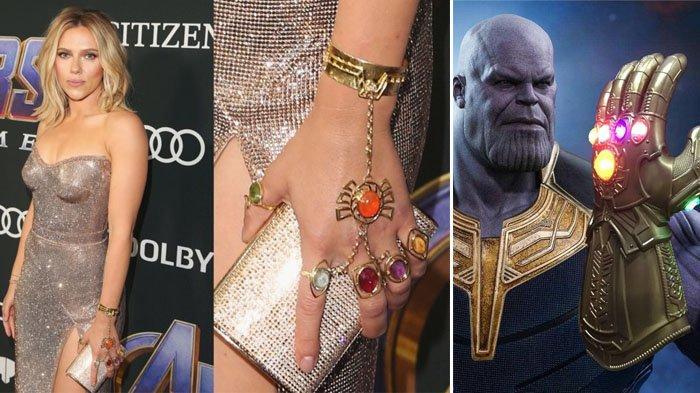 Gaya Scarlett Johansson Kenakan Infinity Stones Thanos di Pemutaran Perdana Avengers: Endgame