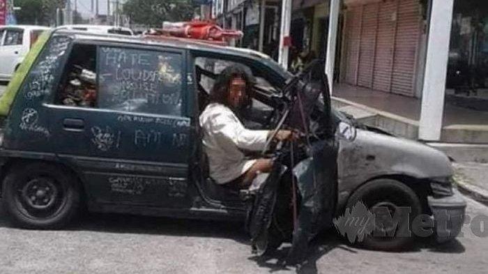 Viral! Gelandangan Nekat Kendarai Mobil Bobroknya Keliling Kota, Ini yang Terjadi Setelahnya