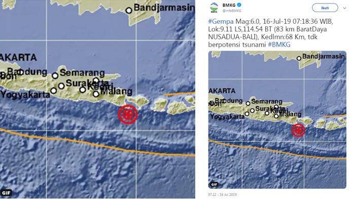 GEMPA HARI INI Selasa 16 Juli 2019 - Gempa Guncang Bali ...