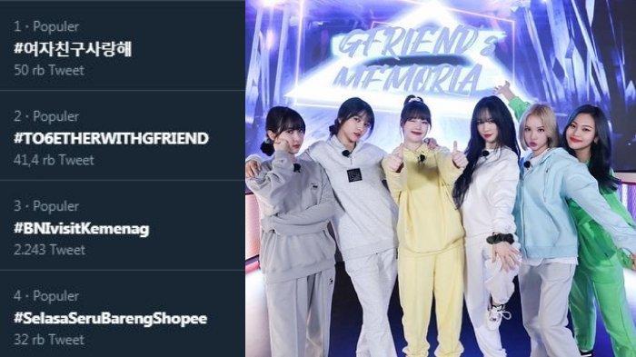 GFriend Hengkang dari Agensi Source Music, Tagar #TOGETHERWITHGFRIEND Trending di Twitter