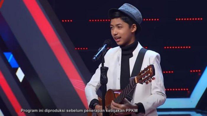 Ghatfaan Rifki saat audisi The Voice Kids Indonesia