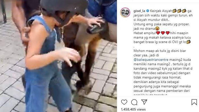 Gisel Dihujat Usai Panggil Seekor Kuda dengan Nama Aisyah, Eks Gading Marten: Mohon Maaf
