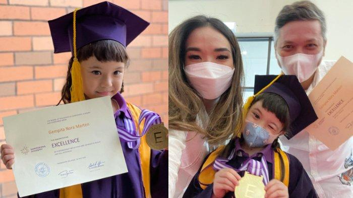 Kompak Hadir di Kelulusan TK Gempi, Gisella Anastasia Beber Peran Gading Marten: Makasih Papa Ding