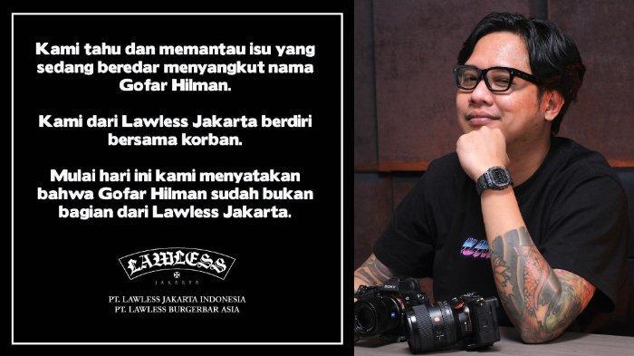 Buntut Kasus Dugaan Pelecehan Seksual, Lawless Jakarta Depak Gofar Hilman dan Siap Bersama Korban