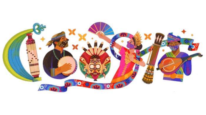 Sambut Hari Kemerdekaan ke-76 Indonesia, Google Doodle Hadirkan Sasando, Topeng Hudoq hingga Gambus
