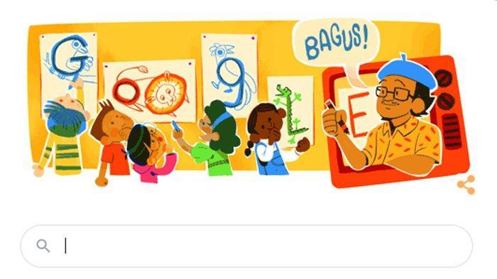 Google Doodle mengenang Tino Sidin.