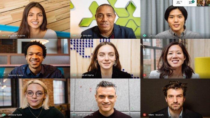 Ilustrasi video conference via Google Meet