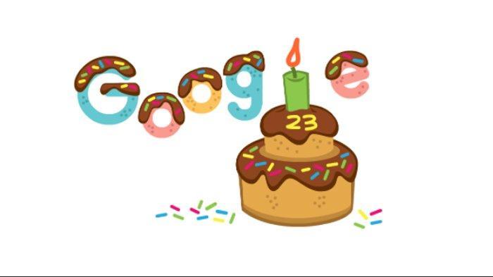 Tampilkan Doodle Kue, Google Rayakan Ulang Tahun Ke-23, Tanggal Lahir Sempat Berganti Beberapa Kali
