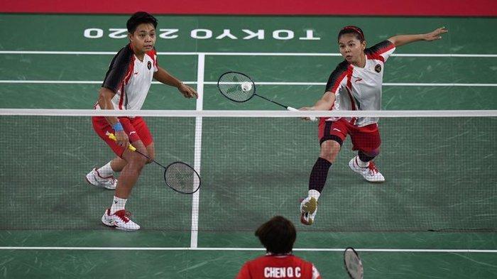 Greysia Polii dan Apriyani Rahayu, menang di final badminton Olimpiade Tokyo 2020.