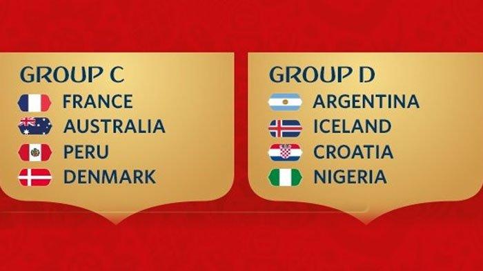 Persaingan Ketat, Inilah Hitung-hitungan Peluang Tim Lolos Grup C dan D Piala Dunia 2018