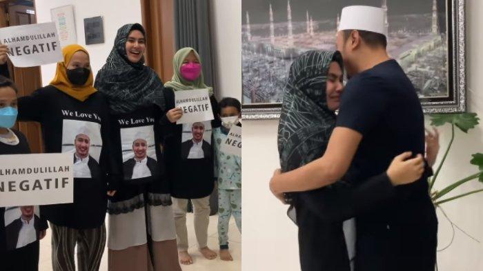 Habib Usman Akhirnya Negatif Covid-19, Kartika Putri Bikin Sambutan Haru, Pakai Kaus Gambar Suami