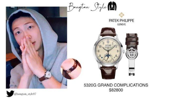 Harga jam tangan RM BTS saat live.