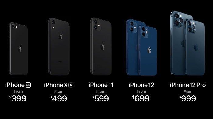 Harga resmi HP Apple iPhone terbaru.