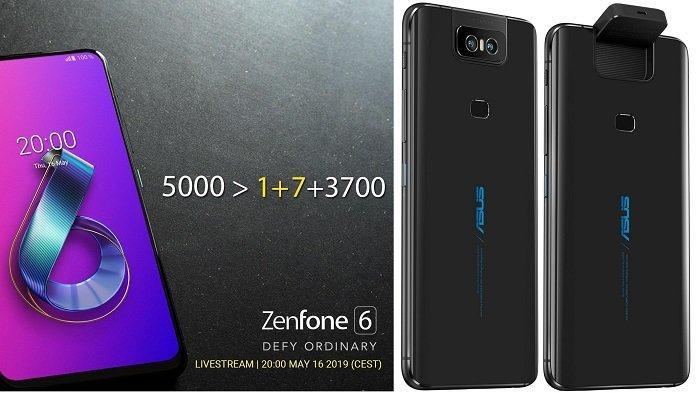Harga & Spesifikasi Asus Zenfone 6, Baterai 5000 mAh, dan Kamera Flip Seperti Samsung Galaxy A 80