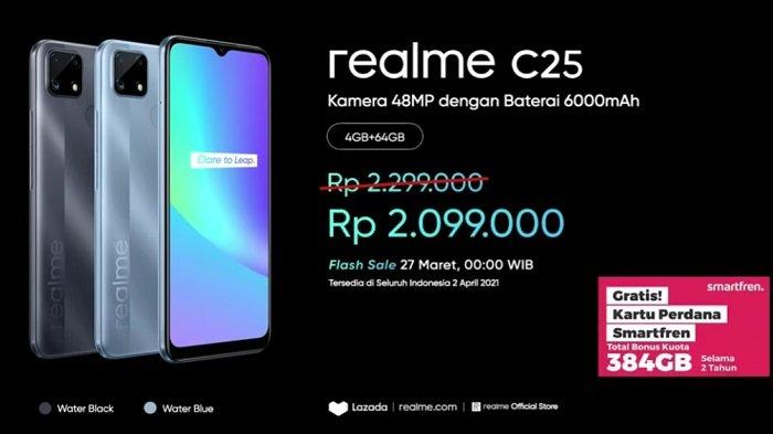 HARGA & Spesifikasi Lengkap Realme C25, Kamera 48MP, Baterai 6000mAh, Ponsel Gaming Murah!