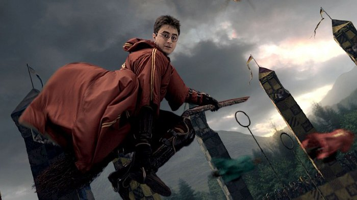 Harry Potter dan sapu terbangnya