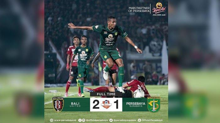 Hasil Akhir Bali United Vs Persebaya Surabaya Liga   Bajul Ijo Keok Di Tangan