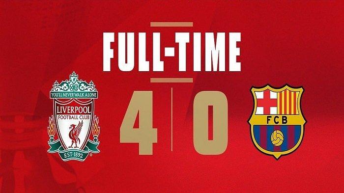 Hasil Akhir dan Highlight Liverpool vs Barcelona Liga Champions