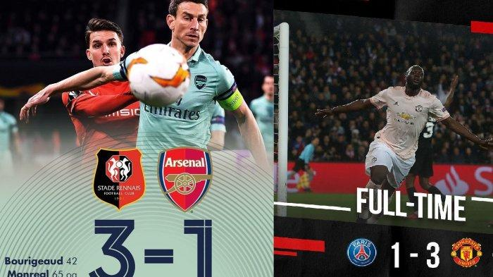 Hasil Arsenal, Manchester United