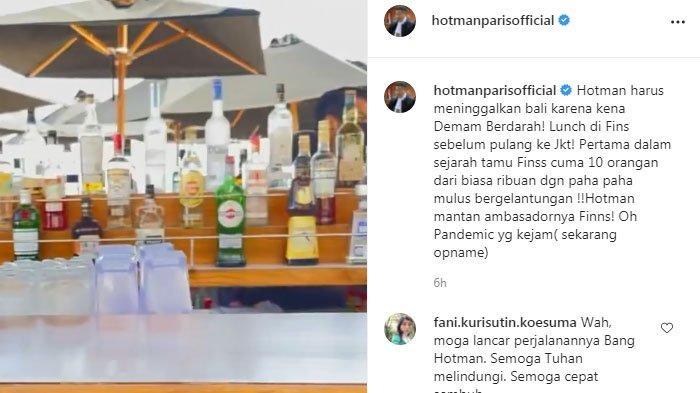 Hotman Paris bercerita sedih saat di beach club Bali.