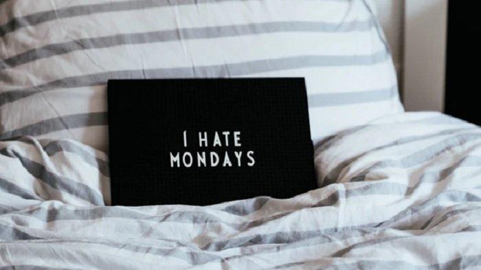 Ilustrasi benci dengan hari Senin.