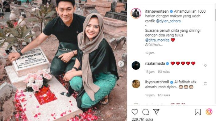 Ifan Seventeen ajak Citra Monica ziarah ke makam Dylan Sahara