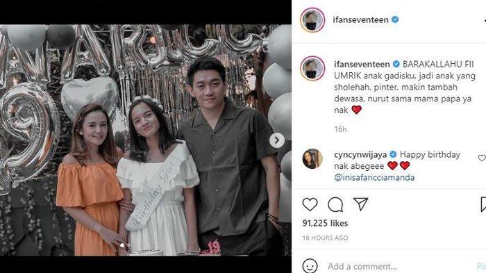 Ifan Seventeen rayakan ulang tahun Safa Ricci, putri semata wayang Citra Monica.
