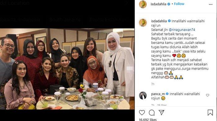 Iis Dahlia turut berduka cita atas meninggalnya Rina Gunawan.
