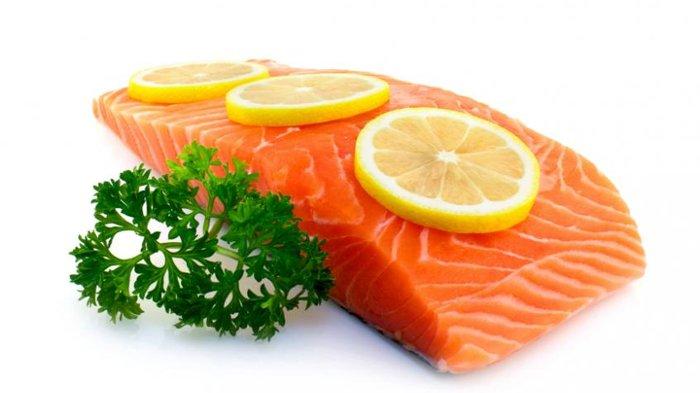 Ilustrasi vitamin D dari ikan salmon.