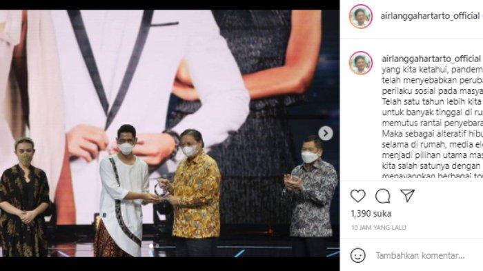 Ikatan Cinta raih penghargaan dari Menteri Koordinator Bidang Perekonomian Airlangga Hartarto