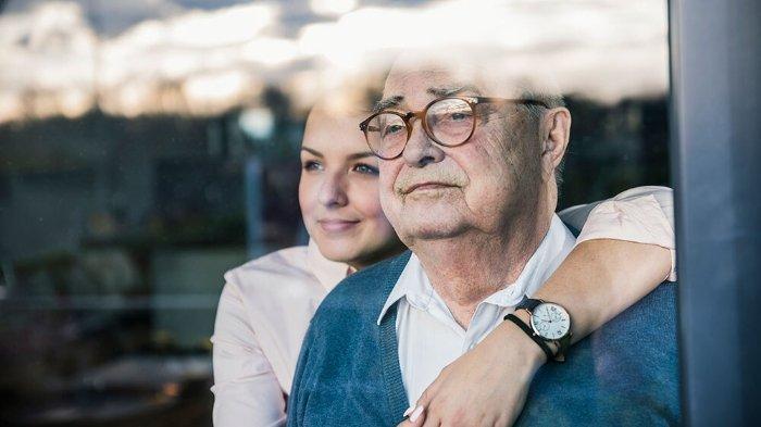 Ilustrasi memeluk ayah.