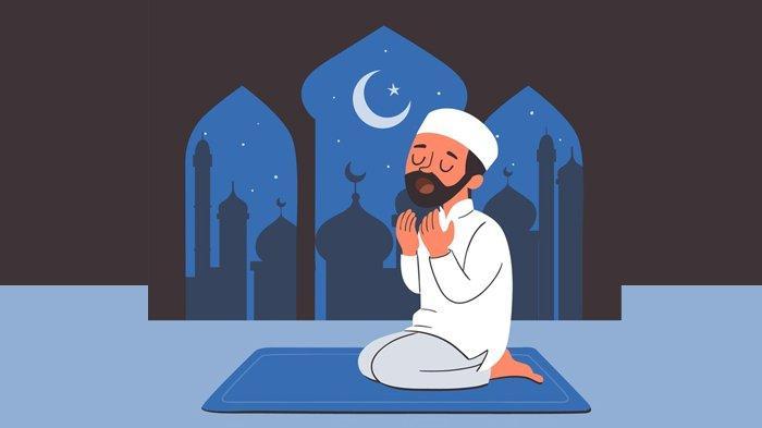 Ilustrasi berdoa malam Ramadhan.