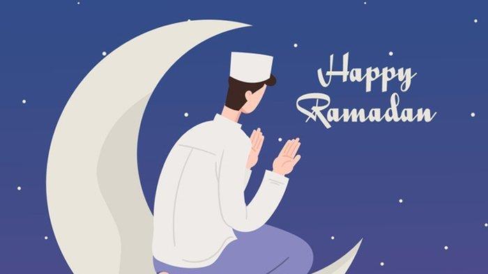 Ilustrasi berdzikir, sambut bulan Ramadhan.