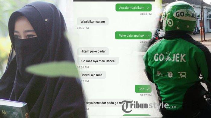 Chat Driver Ojol dengan Wanita Bercadar ini Bikin Perdebatan, Kira-kira pada Cancel Karena Apa?