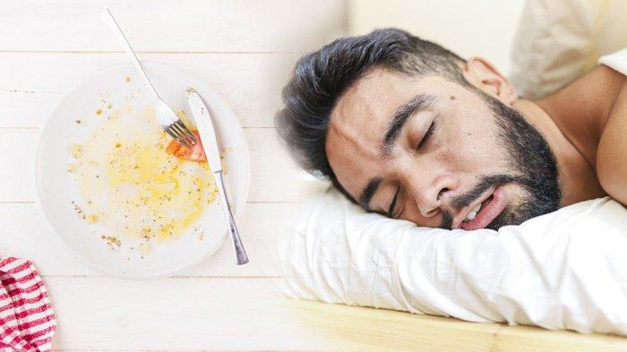 Ilustrasi langsung tidur sehabis makan sahur.