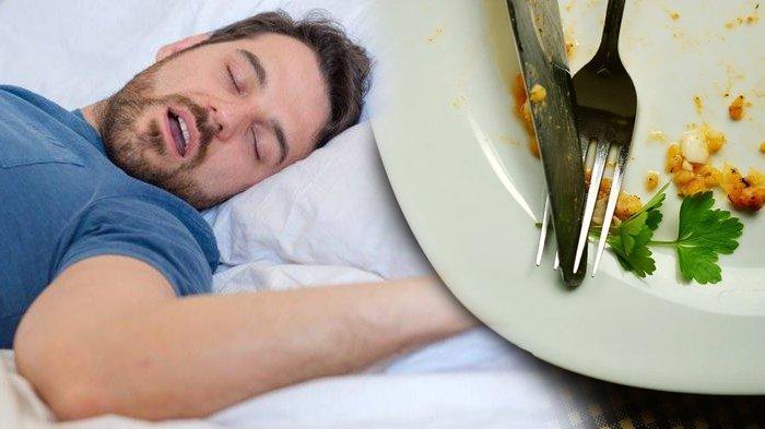 Ilustrasi langsung tidur setelah makan sahur.