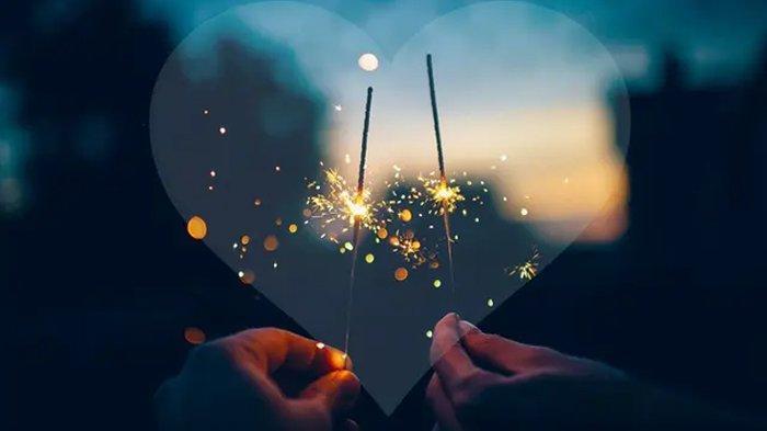 Ilustrasi merayakan tahun baru dengan pasangan.